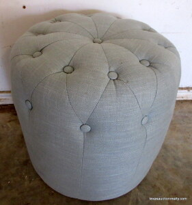 Tuffted Ottoman Upholstered