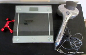 Taylor Glass Top Scale & Massagers