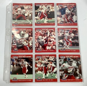 9 ProSet 1990 Pro Bowl Football Player Cards