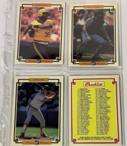3 DonRuss 1984 Champion and 4 DonRuss Baseball Player Cards c.1985