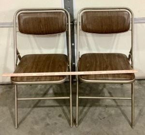 2 Metal Frame Folding Chairs
