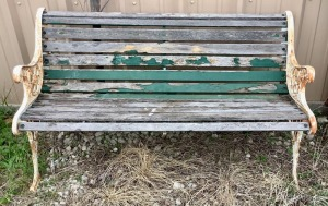 Iron Frame Garden Bench Project