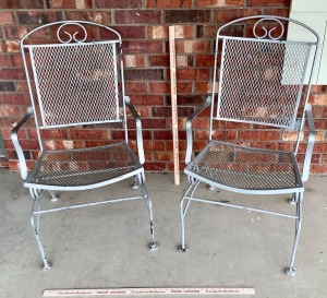 Pair of Metal Patio Chairs