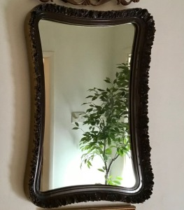High Relief Framed Mirror