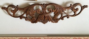 Pair of Filligreed Wood Carving Decor