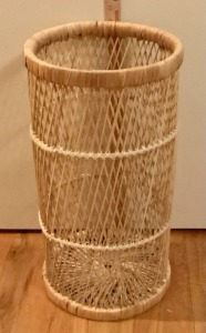 Basketweave Plant Stand or Umbrella Stand