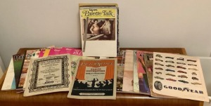 Vintage Art Magazines, Sheet Music and Goodyear Tire Advertisement