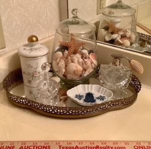 Mirrored Vanity Tray and Decor