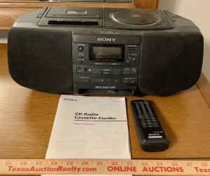 Sony CFD-S33 Portable Radio/CD/Cassette-Corder