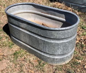 Galvanized Water Trough
