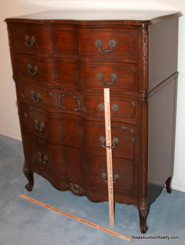 Lot 1 Of 204 Mount Airy Furniture Co High Boy Mahogany Dresser