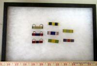 Military Ribbons in Display Case