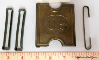 U.S. Army Cartridge Belt Buckle and Keepers