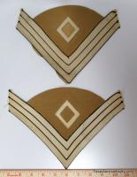 Pair of First Sergeant Chevrons