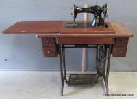 Singer Treadle Sewing Machine with Cabinet