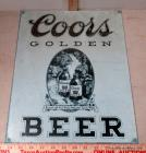 Coors Beer Tin Sign