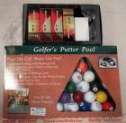 Golfer's Putter Pool Game and Golf Balls