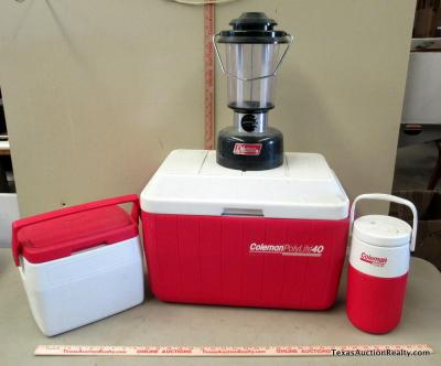 Coolers and Coleman Lamp